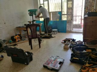Field Ready 3 - a citizen in Baghdad creates a prototype of a foot operated sink